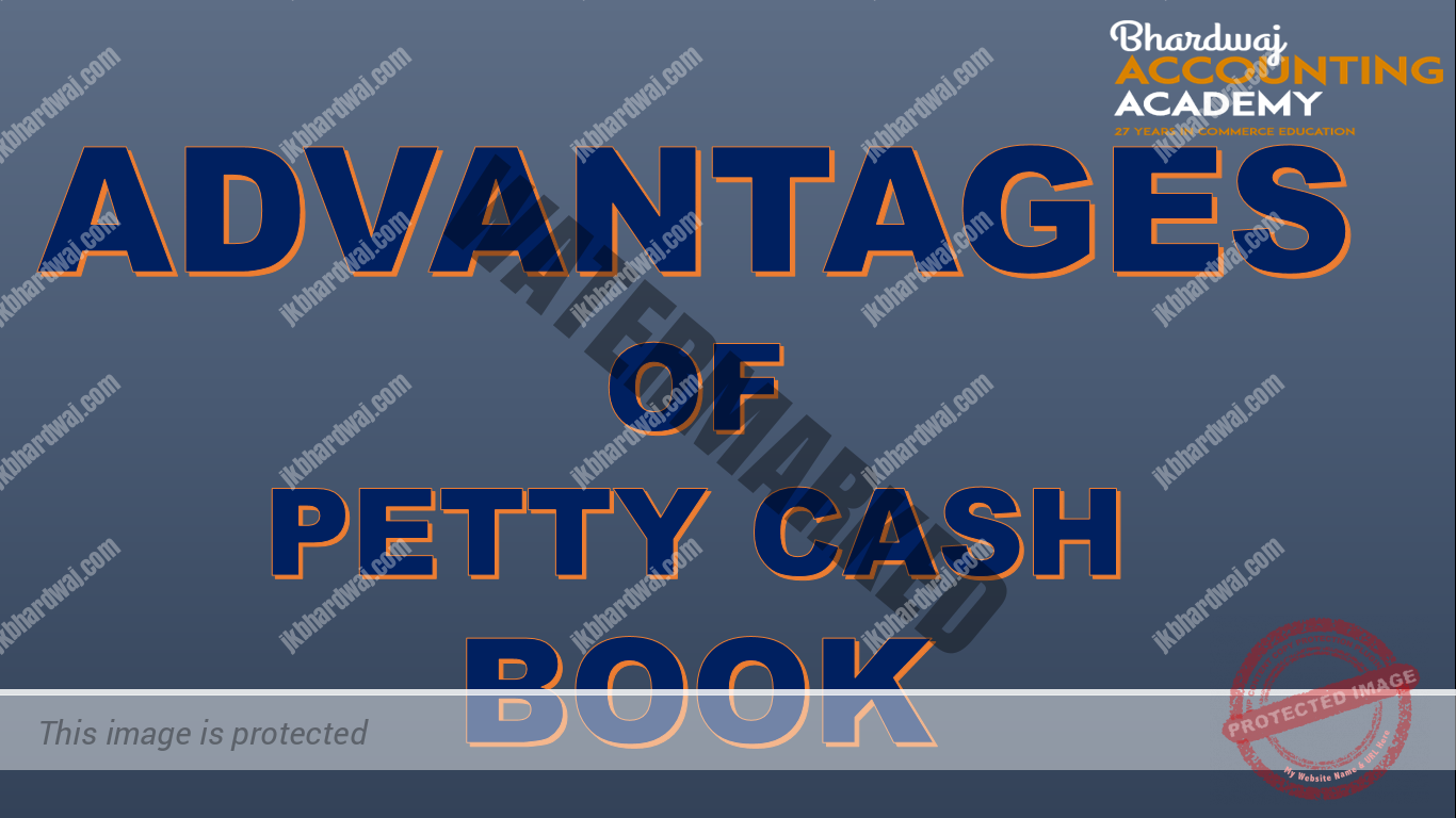 Advantages of analytical petty cash