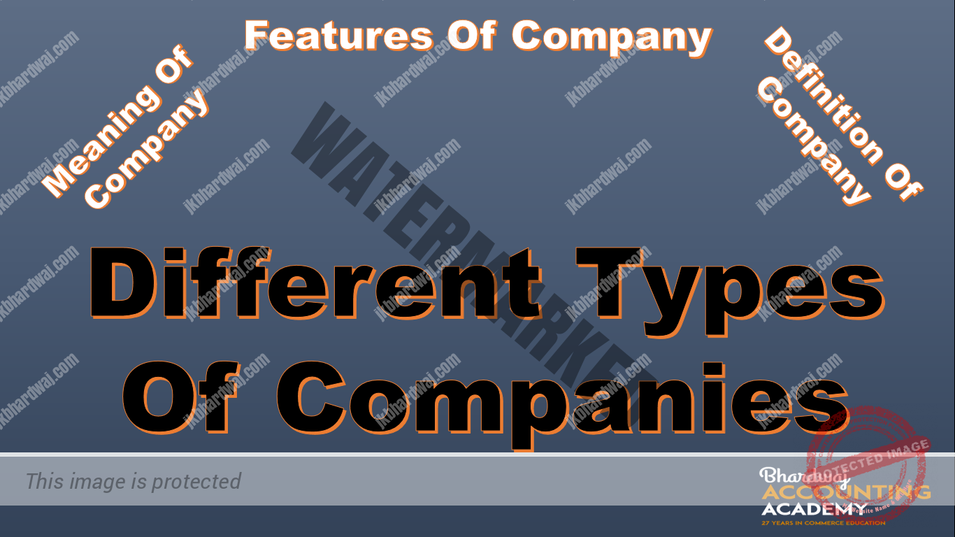 Different types of Companies
