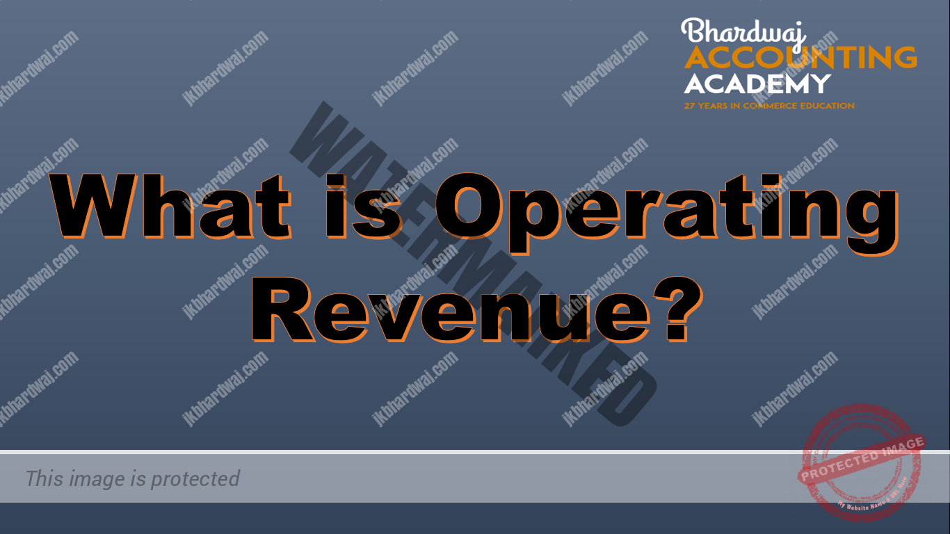 What is Operating revenue?