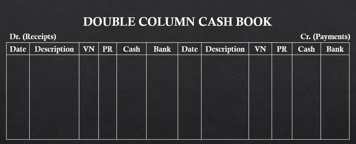 double column cash book